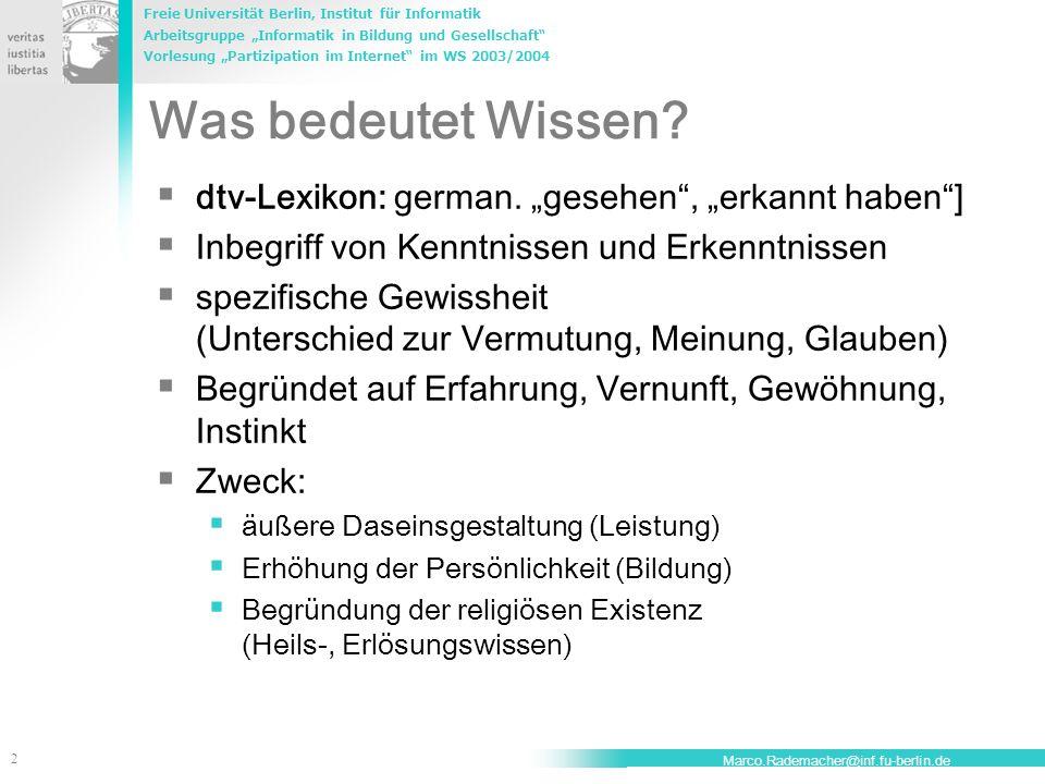 """Was bedeutet Wissen dtv-Lexikon: german. """"gesehen , """"erkannt haben ]"""